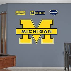 Fathead Michigan Wolverines Logo Wall Graphic by Fathead