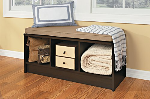 Closetmaid 1570 Cubeicals 3 Cube Storage Bench Espresso Furniture Benches Entryway Benches