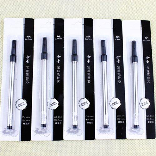 Nice Jinhao Black Ink Rollerball Pen Refill Spiral 0.7 Pen Refill 10 Refills