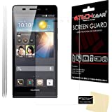 [Pack of 3] TECHGEAR Huawei Ascend P6 CLEAR LCD Screen Protectors With Screen Cleaning Cloth & Application Card