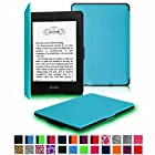 Fintie Amazon Kindle Paperwhite SmartShell Case - The Thinnest and Lightest Leather Cover for Amazon All-New Kindle Paperwhite (Both 2012 and 2013 Versions with 6 Display and Built-in Light), Blue
