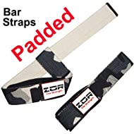Get Pair PADDED Power Hand Bar Straps Weight Lifting Straps Cotton Straps Camouflage Army Colour On sale-image