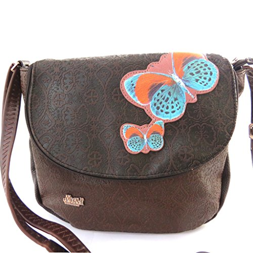 bolso french touch con mariposas