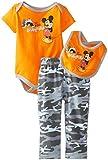 Disney Baby-Boys  Mickey Mouse 3 Piece Creeper Bib Set