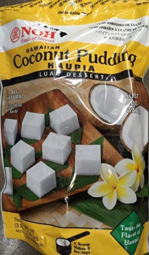 NOH Hawaiian Coconut Pudding Haupia Luau Dessert Mix Large 3 lb (48 oz-1.36 KG) pack Hawaiian Dessert
