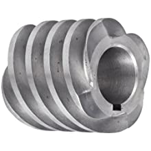 "Boston Gear D1607KRH Worm Gear, 14.5 Degree Pressure Angle, 0.625"" Bore, 12 Pitch, 1. PD, RH"