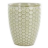 Honeycomb Embossed Stoneware Tumbler