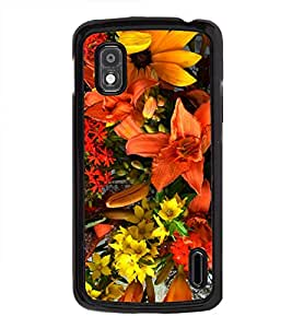 Bright Flowers 2D Hard Polycarbonate Designer Back Case Cover for LG Nexus 4 E960 :: LG Nexus 4 :: LG Mako