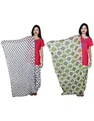 Indistar Women's Cotton Patiala Salwar With Dupatta Combo (Pack Of 2 Salwar With Dupatta) - B01HRK89I0