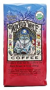 Raven's Brew Coffee - Wicked Wolf Organic Whole Bean Coffee - 12 oz.
