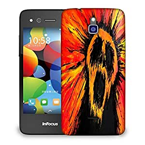 Snoogg Colorful Bear Designer Protective Back Case Cover For INFOCUS M2
