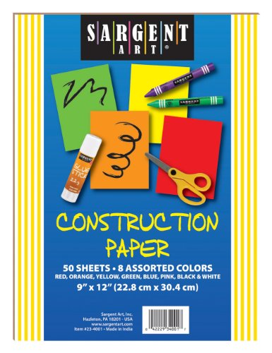 Sargent Art 23-4001 50-Count Construction Paper - 1