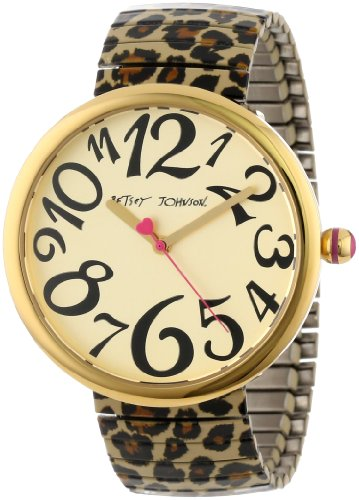 Betsey Johnson Women's BJ00039-02 Analog Leopard Expansion Band Watch
