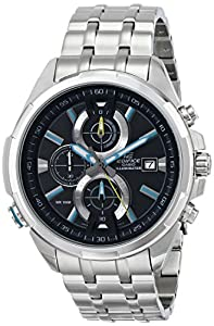 Casio Men's EFR-536D-1A2VCF Neon Illuminator Analog Display Quartz Silver Watch