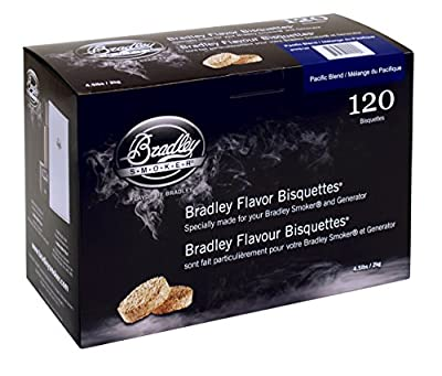 Bradley Smoker BTPB120 Pacific Blend Bisquettes, 120-Pack by Bradley Smoker USA Inc.