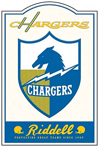 """San Diego Chargers Riddell Throwback Logo Metal Sign 17.5""""x11.5"""""""