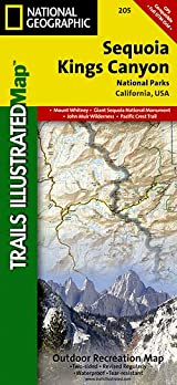 TI Map #205- Sequoia/Kings Canyon National Park