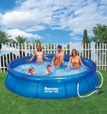 Bestway rund pool aufblasbar 305 x 076m from gre at the for Bestway pool bei obi