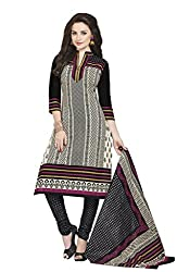 CHINTAN TEXTILES Ethnicwear Women's Dress Material(Off-White_Free Size)