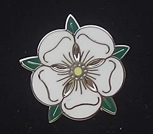 Traditional Yorkshire County Rose Flag Pin Badge ENAMEL LAPEL BADGE