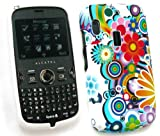 EMARTBUY ALCATEL OT-800 GEL SKIN COVER CIRCLES AND FLOWERS