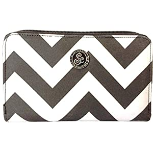 Savvycents Wallet (Black/White Chevron)