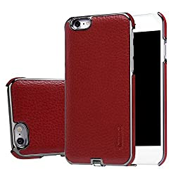 N-JARL Qi Wireless Charging Receiver Case Fast Charger Cover For iPhone 6/6S - Red