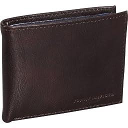 Tommy Hilfiger York Burgundy Passcase Bifold Wallet