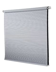 Redi Shade Z14C2301400 Simple Fit Made to Width Custom Cordless Honeycomb Cellular Shades, 23-Inch by 72-Inch,Snow Blackout at Sears.com