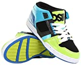 Mens Osiris NYC83 Mid Top Lime Black Cyan Trainer SIZE 6-12