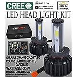 ICBEAMER D4S D4C D4R LED COB HeadLight Bulb Replace Halogen Lamps [Color 6000K White + 30000K Dark Blue] 2 yrs Warranty (Tamaño: Replace OSRAM 66040 PHILLIPS 85122+ 66040)
