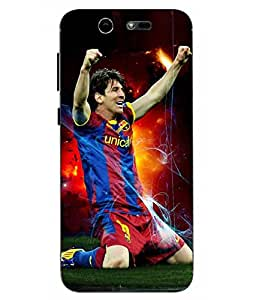 Snazzy Messi Printed Blue Soft Back Cover For LYF EARTH 2