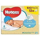 HuggiesPuro Bebé Toallitas 12 Pack X 56S (Paquete de 6)