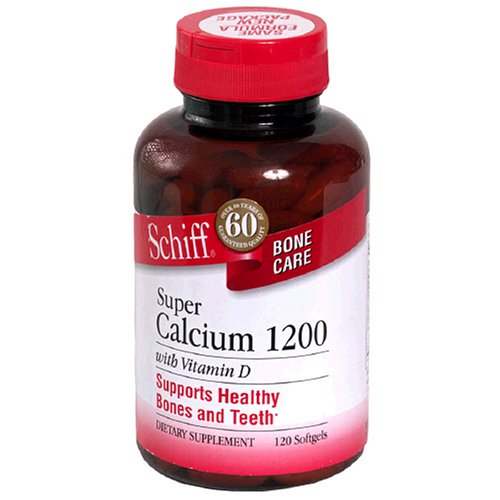 Schiff Super Calcium 1200mg with Vitamin D, 120 Softgels