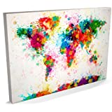 Map of the World Map Paint Splashes, Canvas Art Print, 22x34 inch (A1) - 168