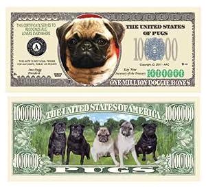 Amazon.com: PUG DOG MILLION DOLLAR BILL (10/$4.99): Toys