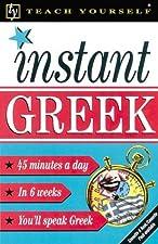 Teach Yourself Instant Greek by Elisabeth Smith