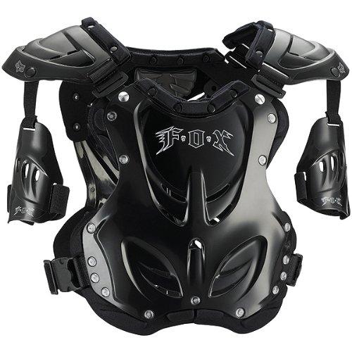 Fox Racing R3 Empire Youth Boys Roost Deflector Motocross/Off-Road/Dirt Bike Motorcycle Body Armor - Black / Medium