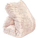 昭和西川 羽毛布団 国産 ダブル ピンク ホワイトダウン90% 増量1.7kg ダウンパワー360dp以上 二層(ツイン)キルト 国内パワーアップ加工