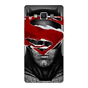 Stylish Black Red Forhead Back Case Cover for Samsung Galaxy A5