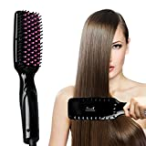 Hair Straightener,Zealite Professional Detangling Hair Brush Hair Styling Comb Digital Anti Static Anti-Scald Ceramic Heating Iron Pink Hair Massage Straightening Irons Black