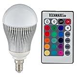 "Technaxx RGB LED Lampe / Strahler E14 5 Watt multicolor (farbwechsel) dimmbar inklusiv Infrarot-Ferbedienungvon ""Technaxx"""