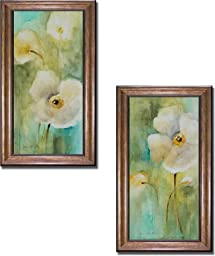 Summer Begins Softly I & II by Lanie Loreth 2-pc Premium Bronze-Framed Canvas Set (Ready to Hang)
