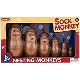 Schylling Sock Monkey Nesting Monkeys
