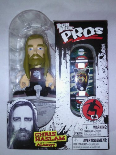 Tech Deck Pro Skater Action Figure With Skateboard - CHRIS HASLAM - 1