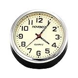 Movebest 置き時計 ミニ時計 ブラック 車用 小型 クオーツ時計 アナログ表示 かわいい