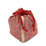 【日本製巾着袋バッグ】【赤地系 鹿の子柄】正絹 絞り生地 縮緬 ミニバッグ 大人から子供まで 七五三