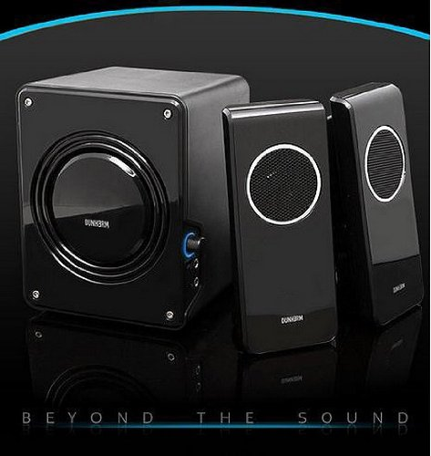 Durherm Dr-S20 2.1 Glossy Surface Luxury Design Subwoofer Speaker System Equipped With Microphone And Headphone Inputs
