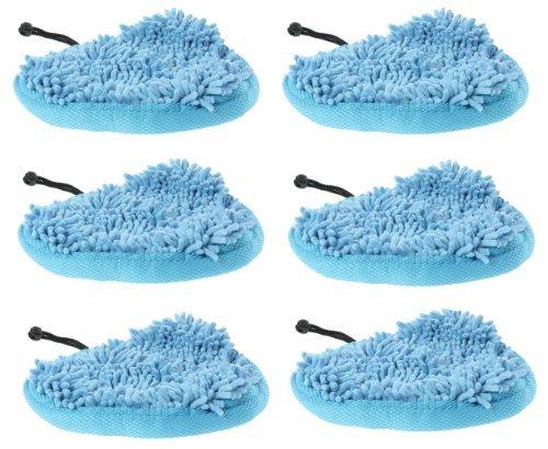 first4spares-almohadillas-de-limpieza-lavables-de-microfibra-para-vax-s87-t2-color-rojo-6-unidades