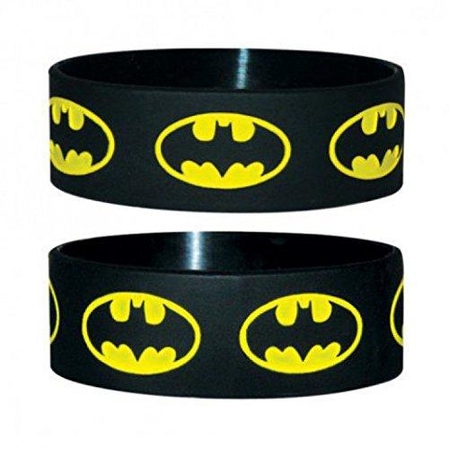 Batman - Logo Repeat Braccialetto, Diametro: 65mm, Larghezza: 24mm, Spessore: 1mm taglia adattabile (6 x 2cm)